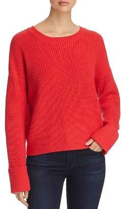 Kenneth Cole Crewneck Shaker-Stitch Sweater