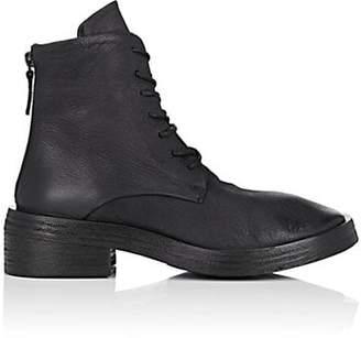 Marsèll Women's Distressed Leather Combat Boots - Black