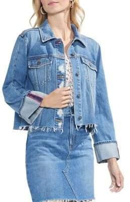 Vince Camuto Classic Flare Cuff Denim Jacket