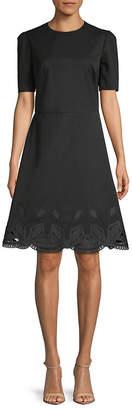 Ralph Lauren Bettina Short-Sleeve Cocktail Dress
