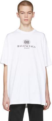 Balenciaga White BB Mode T-Shirt
