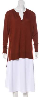 The Row Long Sleeve Cashmere Top