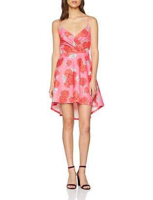 Quiz Women's Strappy DIP Hem Dress A-Line Floral Sleeveless Dress