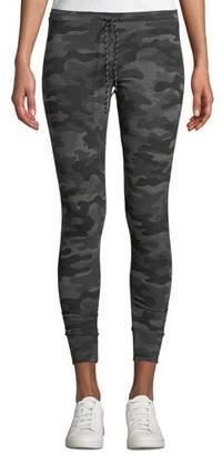 Sundry Camo-Print Drawstring Sweatpants