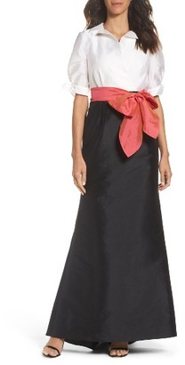Women's Adrianna Pappell Taffeta Mermaid Gown With Train $189 thestylecure.com