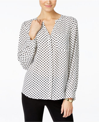 INC International Concepts Polka-Dot Blouse, Only at Macy's $69.50 thestylecure.com