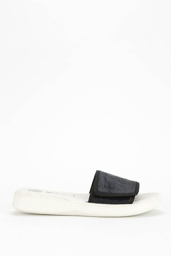 Jeffrey Campbell Enfiler Calf Hair Slide Sandal