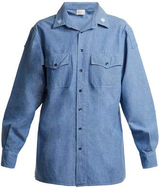 MYAR ITS0A Italian star-patch chambray shirt