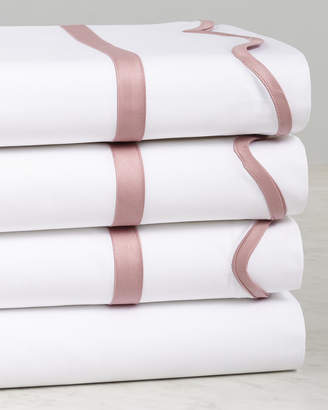 Dea Italian Linens Pink Scalloped Sheet Set