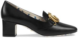 Gucci Double G decorated mid-heel pumps