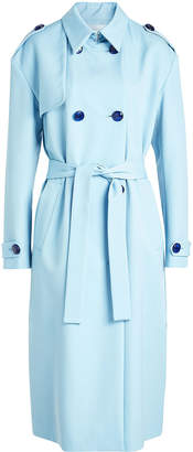 Victoria Beckham Victoria Drop Shoulder Wool Trench