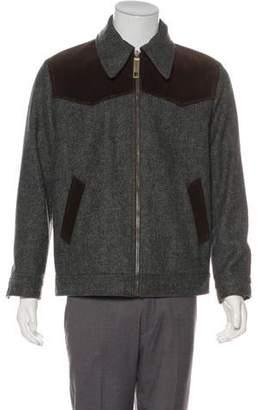 Dolce & Gabbana Corduroy-Trimmed Virgin Wool-Blend Jacket