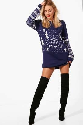 boohoo Christmas Jumper Dress