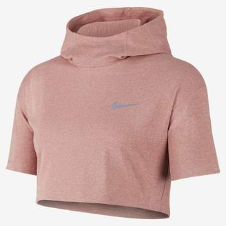 Nike Element Women's Short Sleeve Running Hoodie