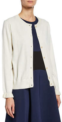 Kate Spade Button-Front Long-Sleeve Ruffle Cardigan