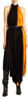 Proenza Schouler Colorblocked Mix-Pleated Dress
