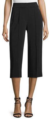 A.L.C. Cooke Slim-Fit Gaucho Pants, Black $425 thestylecure.com