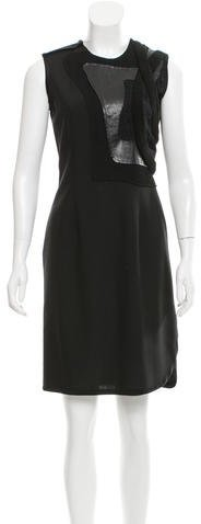 Balenciaga  Balenciaga Wool-Blend Sleeveless Dress