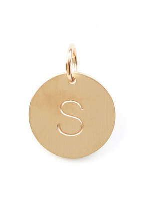 Nashelle S Initial Disc Necklace Charm