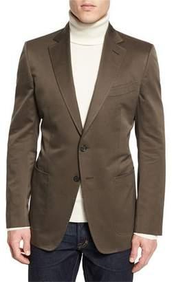 Tom Ford O'Connor Base Gabardine Sport Jacket, Olive