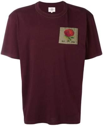 Kent & Curwen embroidered flower T-shirt