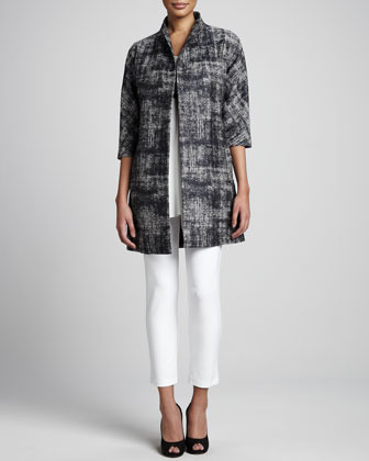 Eileen Fisher Illusion Jacquard Coat, Petite