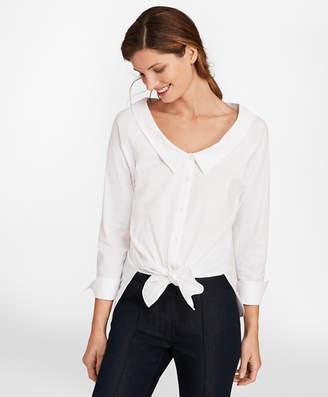 Brooks Brothers Portrait Collar Stretch-Cotton Shirt
