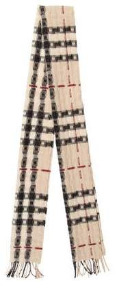 Burberry Check Knit Scarf
