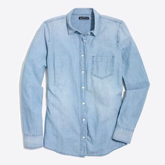 J.Crew Factory J.Crew Mercantile chambray shirt in perfect fit