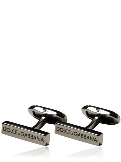 Dolce & Gabbana Logo Brass Cufflinks