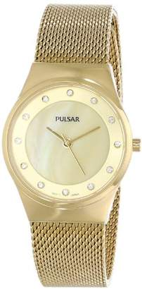 Pulsar Women's PH8056 Gold-Tone Stainless Steel Watch
