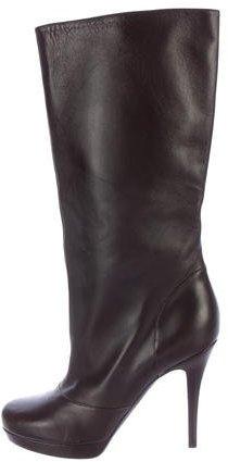 Saint LaurentYves Saint Laurent Leather Mid-Calf Boots
