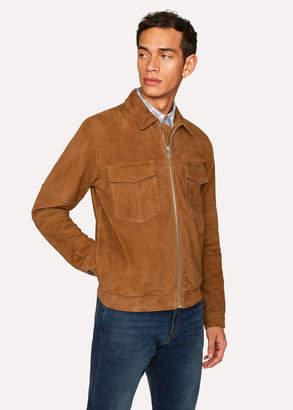 Paul Smith Men's Tan Suede Patch-Pocket Jacket