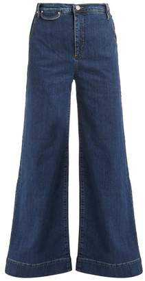 Katharine Hamnett Anita Wide Leg Denim Jeans - Womens - Blue