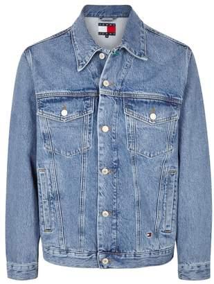 Tommy Jeans Blue Embroidered Denim Jacket