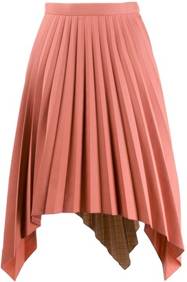 Acne Studios contrasting fabrics pleated skirt