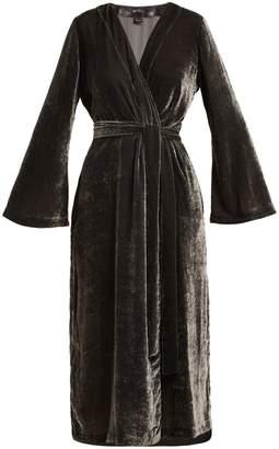 ONCE MILANO Bell-sleeve velvet robe