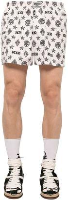 Monogram Printed Cotton Boxer Shorts $60 thestylecure.com