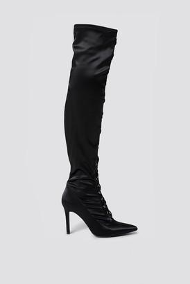 Sahara Ray X Na Kd Lace Up Satin Overknee Boots