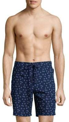 Graphic Tie Front Board Shorts