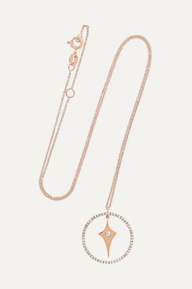 Diane Kordas Shield Charm 18-karat Rose Gold Diamond Necklace