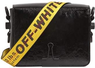 Off-White Binder Clip Patent Leather Shoulder Bag