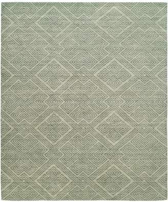 Natori Shangri-La- Interlock Green Tones Rug