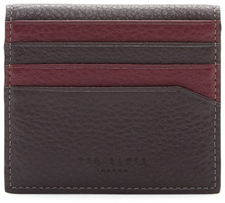 Ted Baker London Dinky Leather Double Color Bifold Card Holder $75 thestylecure.com
