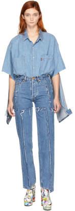 Vetements Blue Levis Edition Frayed Jeans