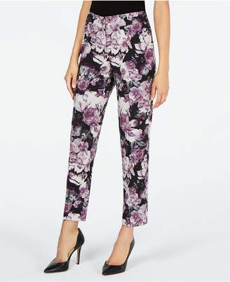 Nine West Printed Straight-Leg Pants