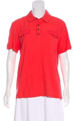 Kenneth Cole Short Sleeve Collar Top