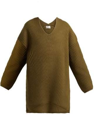 Acne Studios Deka Wool Sweater - Womens - Khaki