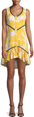 Alexis Simonet Floral Flounce High-Low Dress