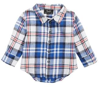 Bardot Junior Plaid Button Front Shirt